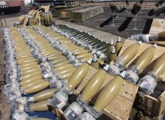 Von Israel abgefangene iranische Waffenlieferung. Foto IDF