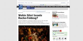Schlagzeile in der Onlineausgabe von 20 Minuten.