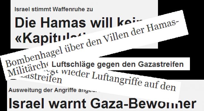 Ungleiche Titelwahl bei Berichterstattung über Gazakrise