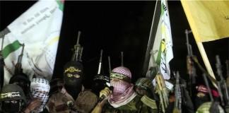 """Kämpfer"" der Qassam-Brigaden. Foto Facebook"