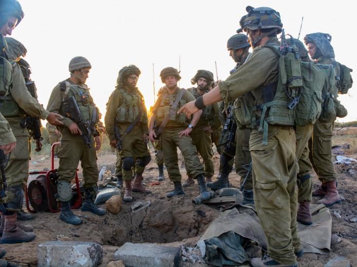IDF Einheiten suchen nach versteckten Tunnels, die von der Hamas für Angriffe auf Israel genutzt werden. Foto Israel Defense Forces