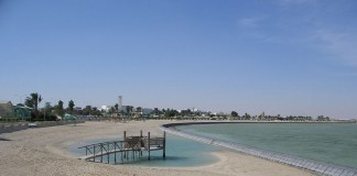 """Al Khor Beach"". Licensed under Creative Commons Attribution-Share Alike 2.0 via Wikimedia Commons."