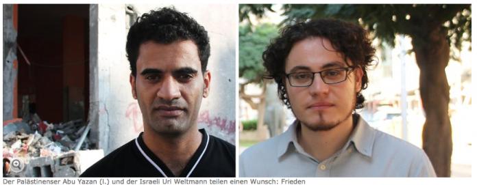 Abu Yazan R. Uri Weltman l. Foto: Screenshot Spiegel Online