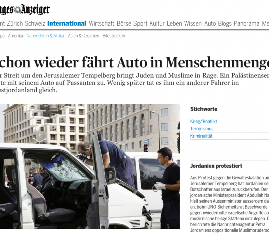 Printscreen Tages-Anzeiger Online 05.11.2014