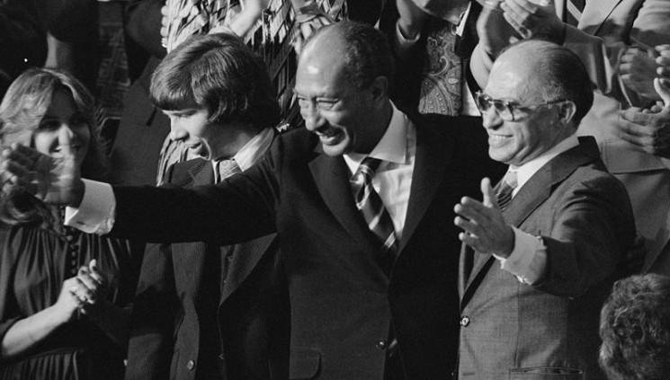 Anwar Sadat und  Menachem Begin 1978. Foto PD