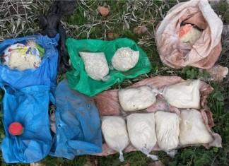 Chemische Substanzen, die im Zuge der Operation gefunden wurden. Foto ZAHAL