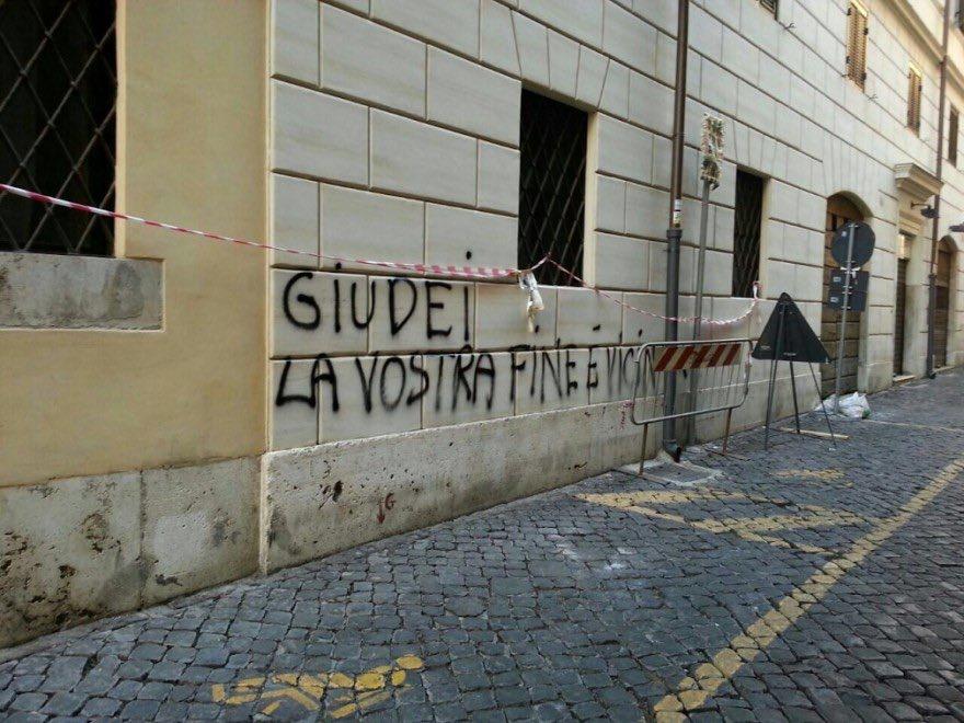 """Juden euer Ende ist nah"". Graffiti in Rom, Juli 2014. Foto ZVg"