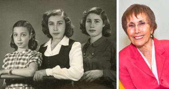 Ruth Pearl und ihre Schwestern, Bagdad, circa.1945 Von links, Carmela, Shulamit und Ruth. Foto Ruth Pearl.