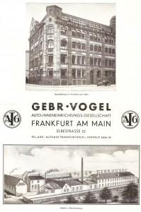 Einer der ersten Automobil-Zulieferer: Firma Gebr. Vogel in Frankfurt am Main und ihre Fabrik in Neu-Isenburg. Foto: Rolf Stürm