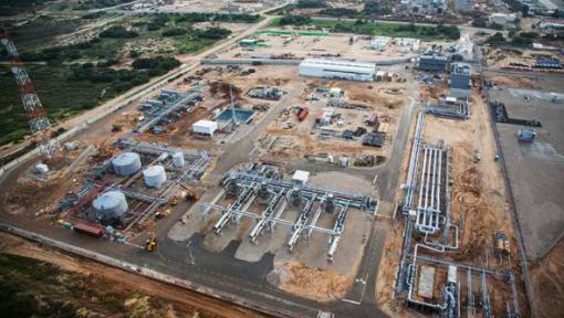 Eine Luftaufnahme des Ashdod Onshore-Terminals, das den Gas- und Kondensatfluss von Tamar erhält. Foto Noble Energy