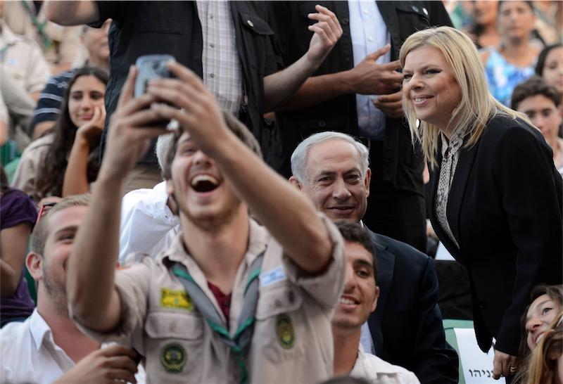 Premierminister Benjamin Netanyahu und seine Frau Sara an einer Veranstaltung im Juni 2014. Foto Haim Zach / GPO.