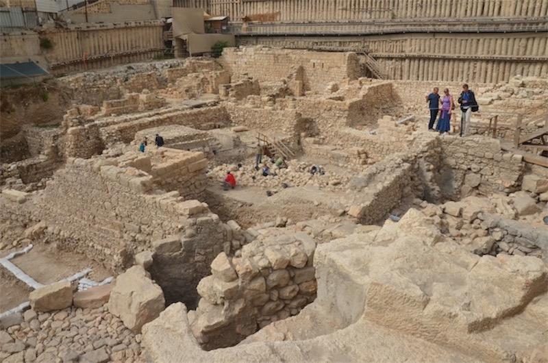 Der Ausgrabungsort in Jerusalem. Foto Israel Antiquities Authority