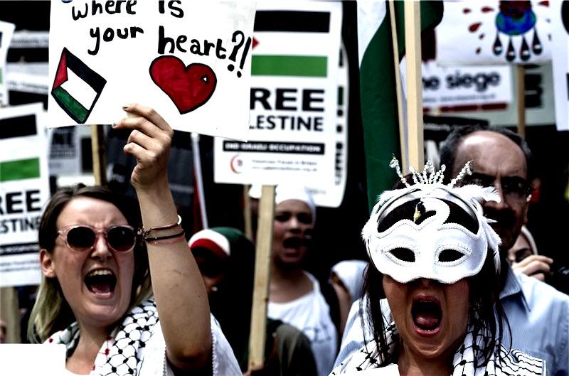 Gaza-Kundgebung März 2014. Foto Garry Knight/Flickr.com (CC BY 2.0)