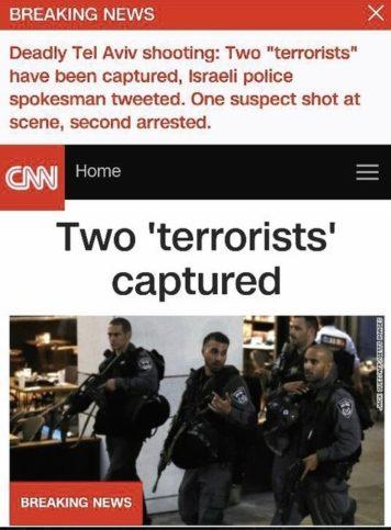 CNN Schlagzeile. Foto Screenshot JNS.org