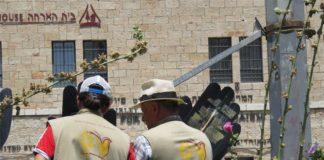 Symbolbild. EAPPI Freiwillige demonstrieren in Jerusalem. Foto TPS