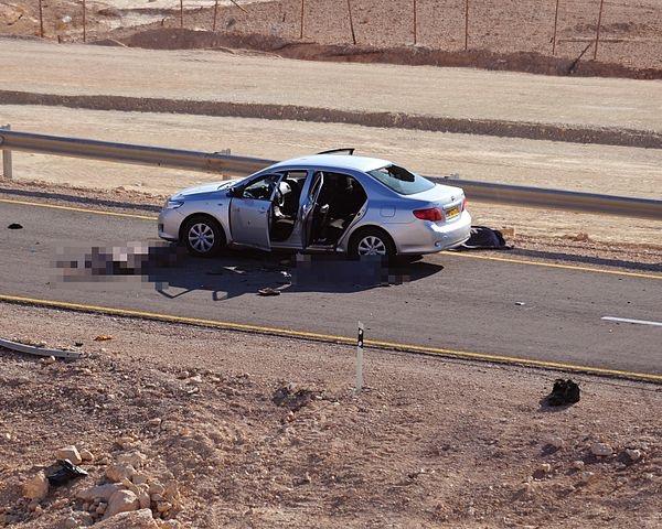 Das Auto in dem vier Zivilisten getötet wurden. Foto Israel Defense Forces - Flickr , CC BY 2.0, Wikimedia Commons.