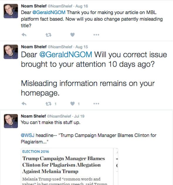 Screenshot der Tweets von NIFs stellvertretendem Vize Präsident für Kommunikation. Foto NGO Monitor