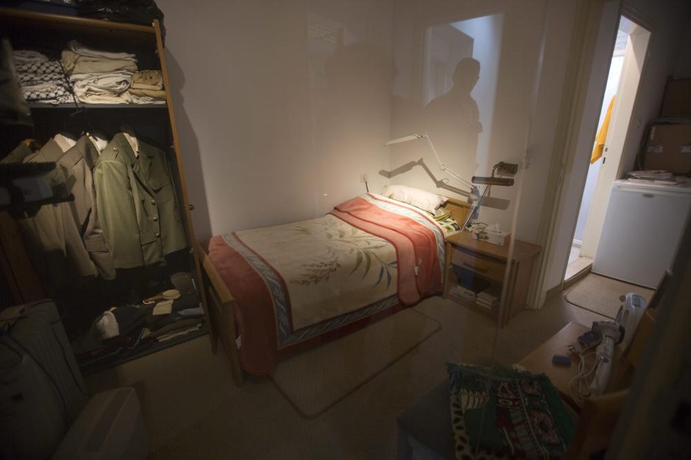Das angebliche Schlafzimmer Arafats im Museum. Foto Alwasatnews /Agenturen