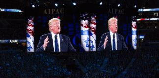 Trump speaking at AIPAC. Photo Lorie Shaull / Flickr.com. (CC BY-SA 2.0)