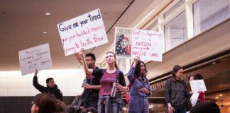 Demonstration in den USA gegen die temporäreren Einreisebeschränkungen. Foto Kenneth Lu /Flickr.com, (CC BY 2.0)