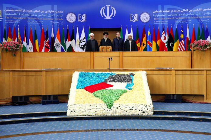 "Sechste ""Internationale Intifada-Konferenz"" in Teheran. Foto khamenei.ir"