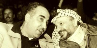 Salah Khalaf und Yasser Arafat. Foto Mida