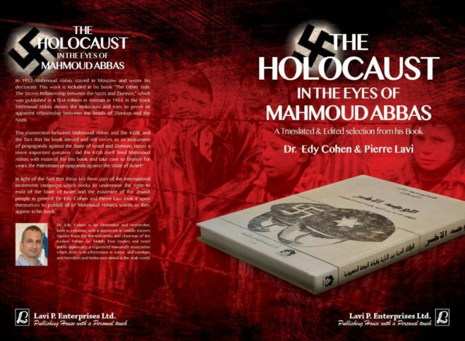 "Dr. Edy Cohen: ""The Holocaust in the eyes of Mahmoud Abbas"". Foto Facebook"