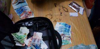 Die Sicherheitskräfte beschlagnahmten Bargeld in israelischer und ausländischer Währung im Gesamtwert von rund 54'000 Dollar. Foto Israeli Police