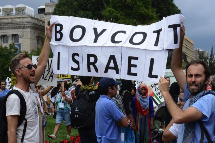 BDS-Aktivisten. Foto Stephen Melkisethian / Flickr.com. (CC BY-NC-ND 2.0)