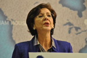 Rima Khalaf. Foto Chatham House - Flickr, CC BY 2.0, Wikimedia Commons.