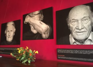 "Bilder der Ausstellung ""The Last Swiss Holocaust Survivors"" von der GAMARAAL Foundation. Foto Twitter / IHRA_news"