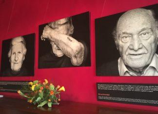"""Bilder der Ausstellung """"The Last Swiss Holocaust Survivors"""" von der GAMARAAL Foundation. Foto Twitter / IHRA_news"""