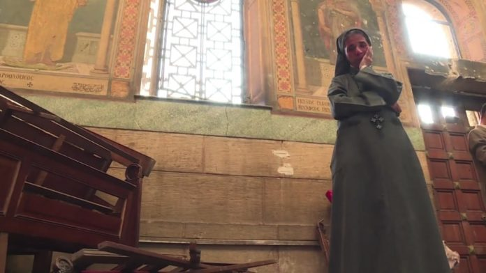 Bei einem Anschlag im Dezember 2016 kamen 29 Christen in der koptischen St.-Peter-und-Paul-Kirche in Kairo ums Leben. Foto Screenshot Youtube / ArabNews