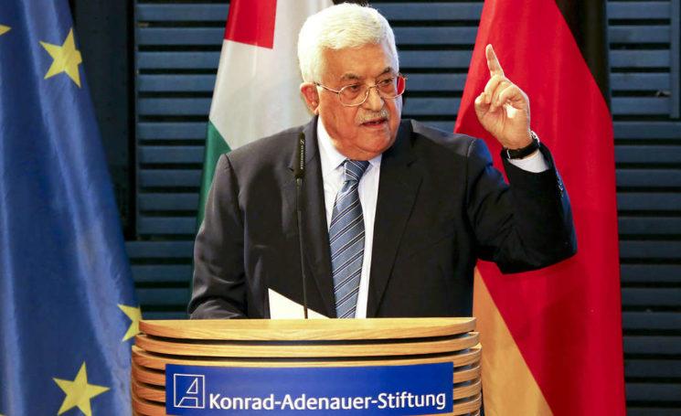 """Für Palästinenserpräsident Mahmud Abbas ist die Siedlungspolitik Israels weiterhin das grösste Hindernis auf dem Weg zu Frieden und Stabilität im Nahen Osten. """"Wir sind ein okkupiertes Land"""", sagte Abbas, der am Vorabend seines Treffens mit Bundeskanzlerin Angela Merkel auf Einladung der Konrad-Adenauer-Stiftung in Berlin sprach. Foto Konrad-Adenauer-Stiftung"""