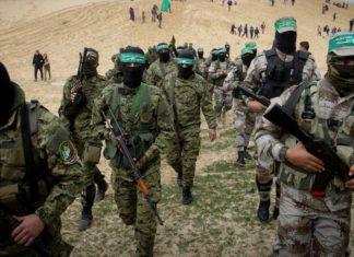 Mitglieder der Izz ad-Din al-Qassam Brigaden. FotoAbed Rahim Khatib / Flash90