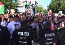 Anti-Israel Kundgebung in Berlin. Foto Screenshot Youtube