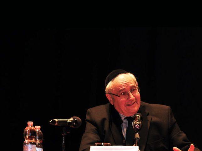 Rabbiner Giuseppe Laras. Foto Screenshot Vimeo.com