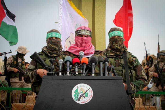 Abu Ubaida, Sprecher der Izz ad-Din al-Qassam Brigaden, dem sogenannten militärischen Flügel der Hamas, an einer Veranstaltung in Rafah am 31. Januar 2017. Foto Abed Rahim Khatib / Flash90
