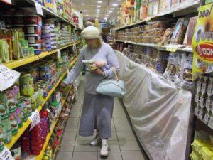 Einkauf im Supermarkt. Foto U.Sahm