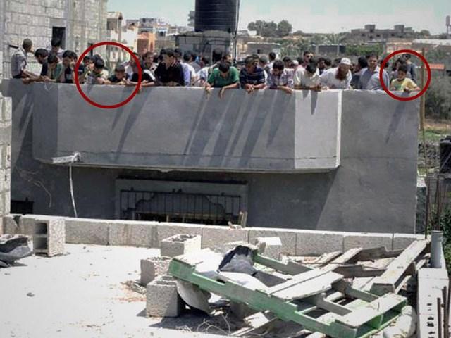 Hamas benutzt Zivilbevölkerung als menschliche Schutzschilder. Foto IDF Spokesperson 2014