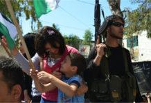 Strassenfeierlichkeit im libanesischen Lager Ain al-Hilweh, Juli 2015. Foto Geneva Call/Flickr.com, CC BY-NC-SA 2.0