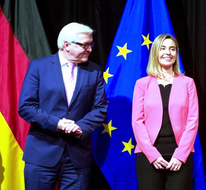 Der deutsche Bundespräsident Frank-Walter Steinmeier und die Hohe Vertreterin der EU für Aussen- und Sicherheitspolitik Federica Mogherini. Foto U.S. Department of State / Public Domain