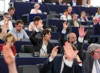 """Die Fraktion """"Die Grünen/Europäische Freie Allianz"""" im Europäischen Parlament (Grüne/EFA). Foto © European Union 2017 - Source : EP"""
