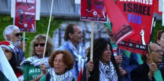 BDS Kundgebung am Fifa-Kongress 2015 in Zürich. Foto zVg