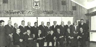 Die dreizehnte israelische Regierung, unter der Leitung von Levi Eshkol, dauerte vom 12 Januar 1966 bis am 17 März 1969 und wurde nach der Gründung der sechsten Knesset vereidigt. Foto GPO Archiv