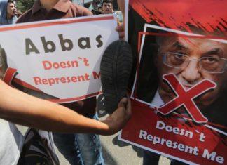 Demonstration gegen Mahmoud Abbas im Gazastreifen. Foto Shehab / Facebook