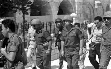 Yitzhak Rabin und Mosche Dajan in Jerusalem. Foto IDF Archiv