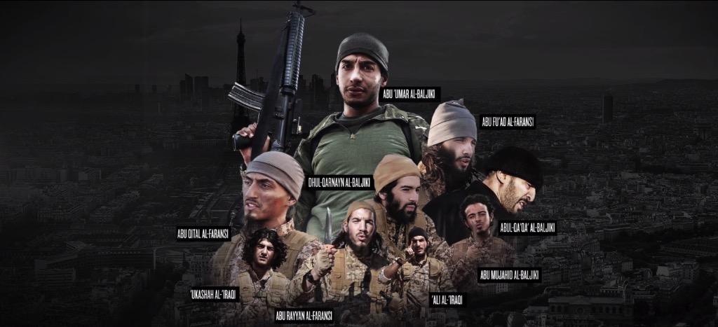 """Märtyrer"" des IS in Europa. Foto Twitter"