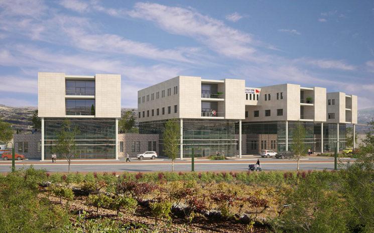 Das grösste medizinische Zentrum in Judäa und Samaria im Modell. Foto Binyamin Medical Center
