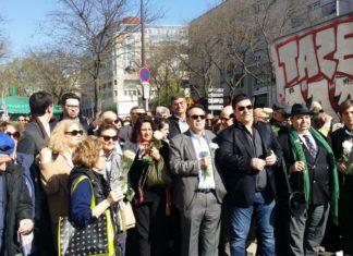 Schweigemarsch am 9. April 2017. Foto Bernard Musicant/Twitter